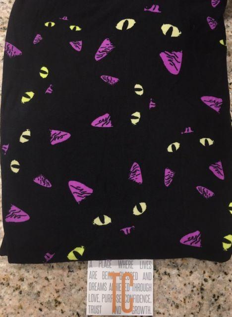 6f812acb9381fa *NEW* LuLaRoe TC 2017 Halloween Black Cat Faces Leggings! *RARE* Unicorn |  eBay