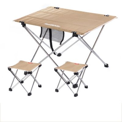 NH15Z012-S7 outdoor folding tables and chairs set Khaki small table ...
