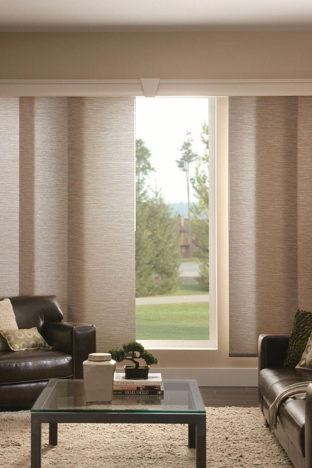Bamboo Sliding Panel Track Blinds: Cover Sliding Glass Doors And Wide Windows In Style With