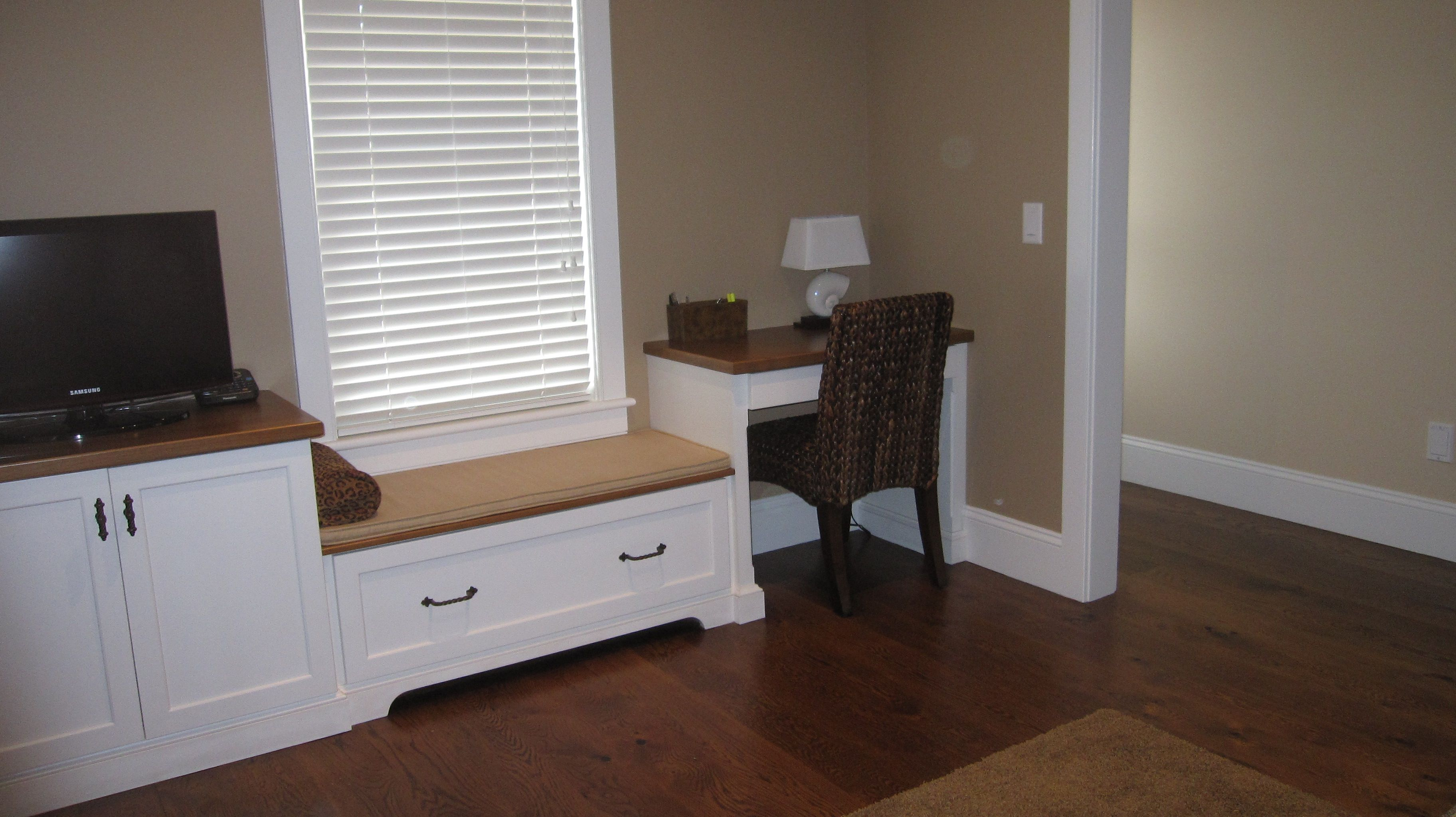 Office Built Ins Window Seat With File Drawer Cabinet