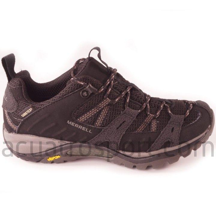 3b31503b6a1c3 Zapatillas Merrell para trekking siren sport GTX para mujer en color negro.  Membrana transpirable e impermeable Gore-Tex® que garantiza mantener tus  pies ...