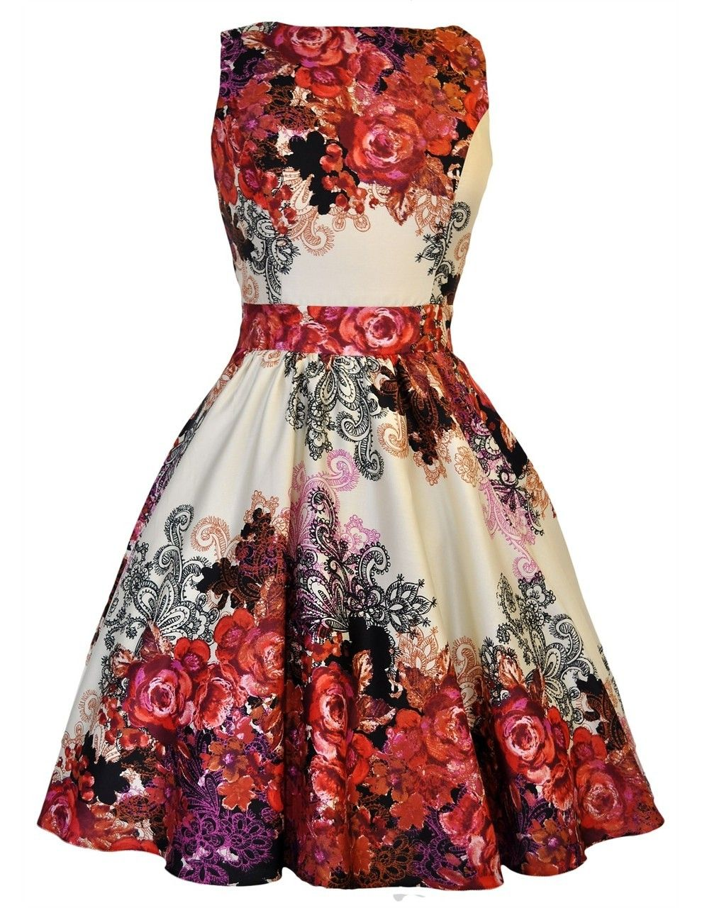 Pretty dress me gorgeous red rose tea dress badass