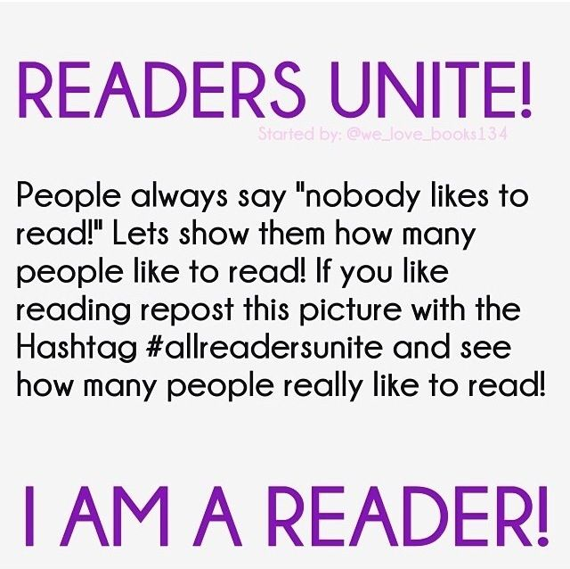 Repost if you're a reader! #allreadersunite | The Right to ...