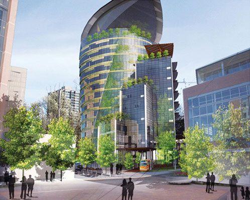 Oregon Sustainability Center, Architect: GBD Architects and SERA Architects, Location: Portland, Oregon, Completion Date: Not yet built.
