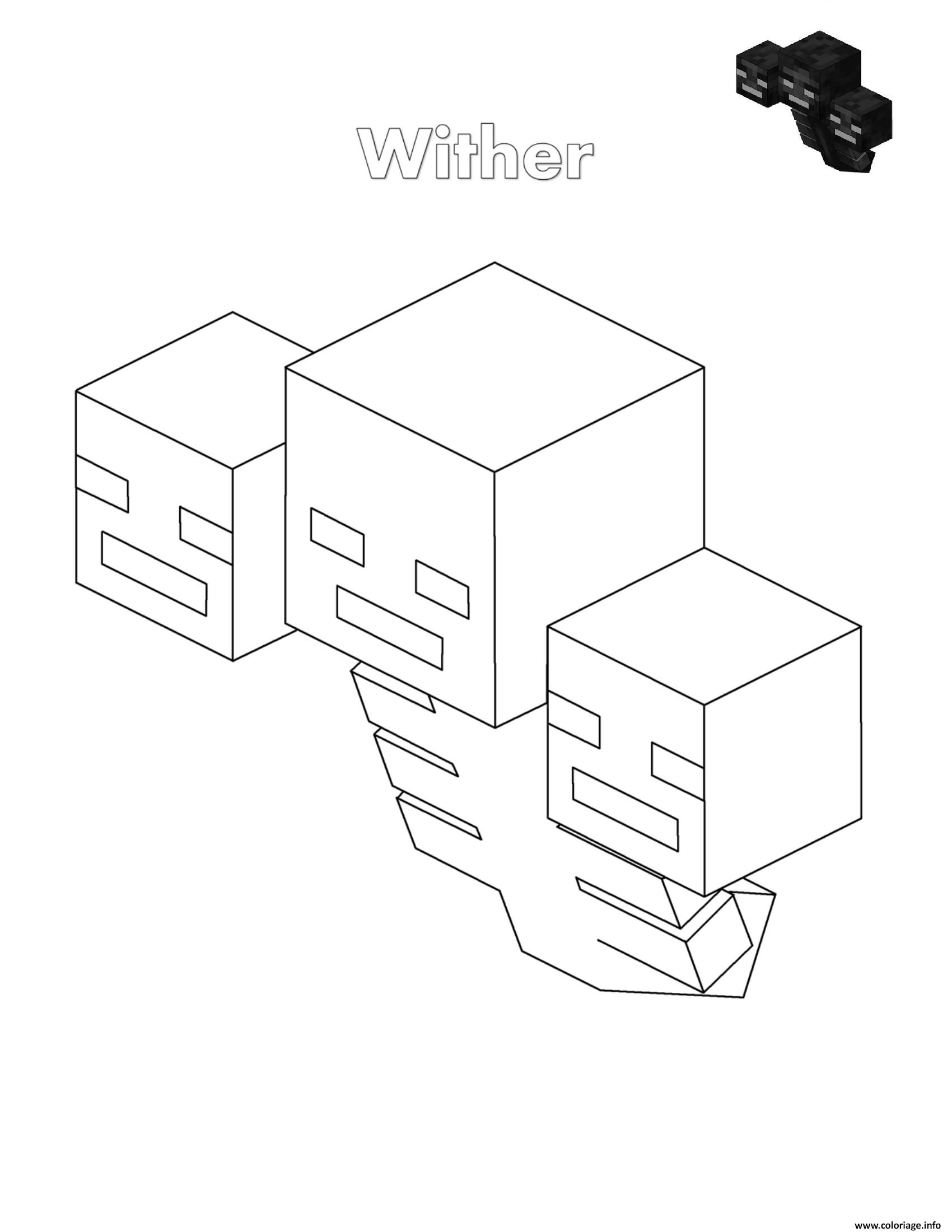 Coloriage Wither Minecraft Dessin A Imprimer Coloriage Lego Coloriage Coloriage Minecraft