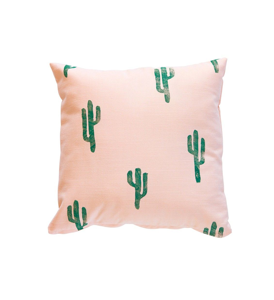 Green and Peach Cactus Throw Pillow - Decor - Accessories