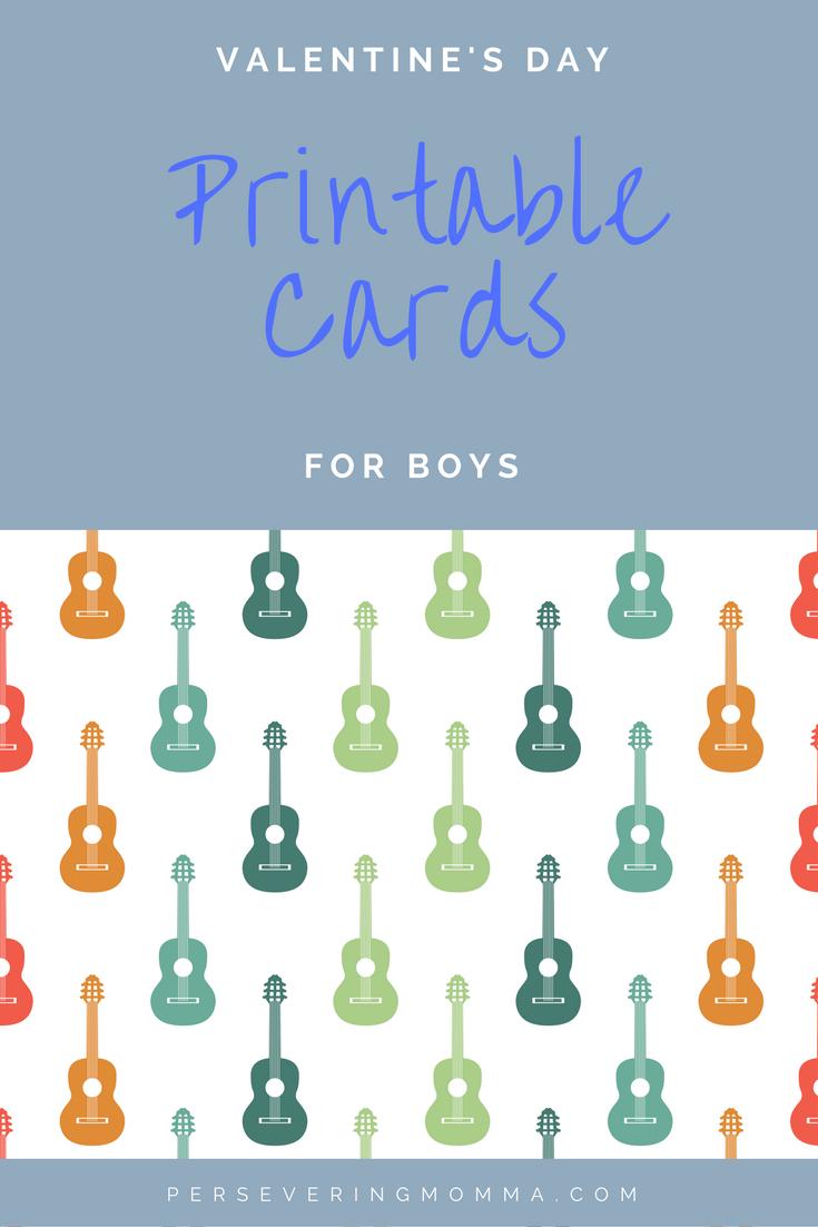 Valentines Day Card Printables For Boys DIY l Printable Cards l ...