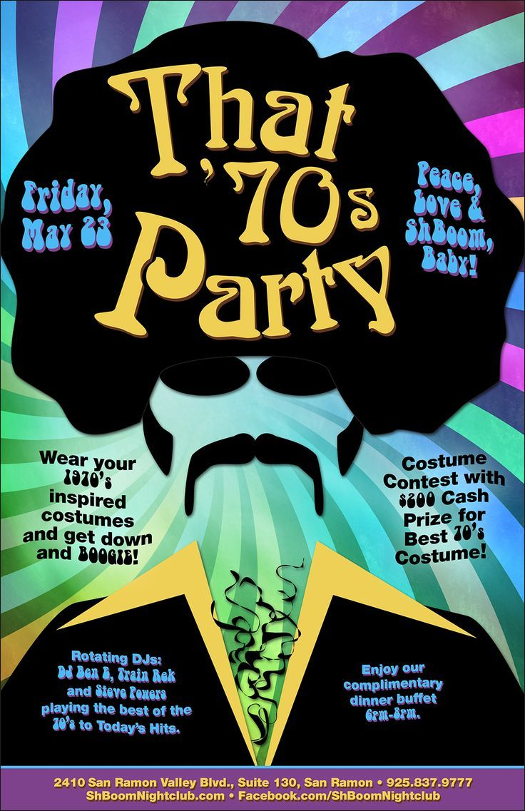 Pin by Ching on 70s retro party ideas Pinterest 70s party