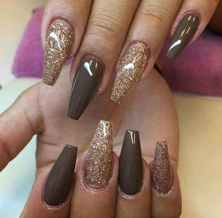 Brown / Gold | Nail Love... | Pinterest | Make up, Nail inspo and ...