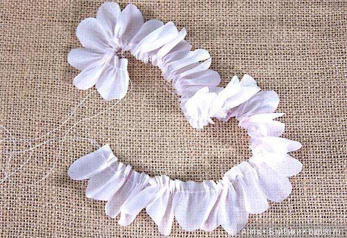 Как сделать цветы из ткани - Бэйбики | Цветы, Ткань, Рукоделие