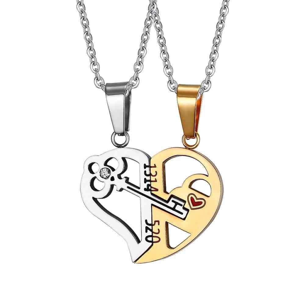 Key & Lock Couple Necklace  & FREE Shipping Worldwide //$14.85    #ios #iphoneogram #iphoneology
