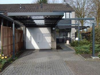 Stalen carport met plat dak carport pinterest pergolas - Pergola dak platte ...