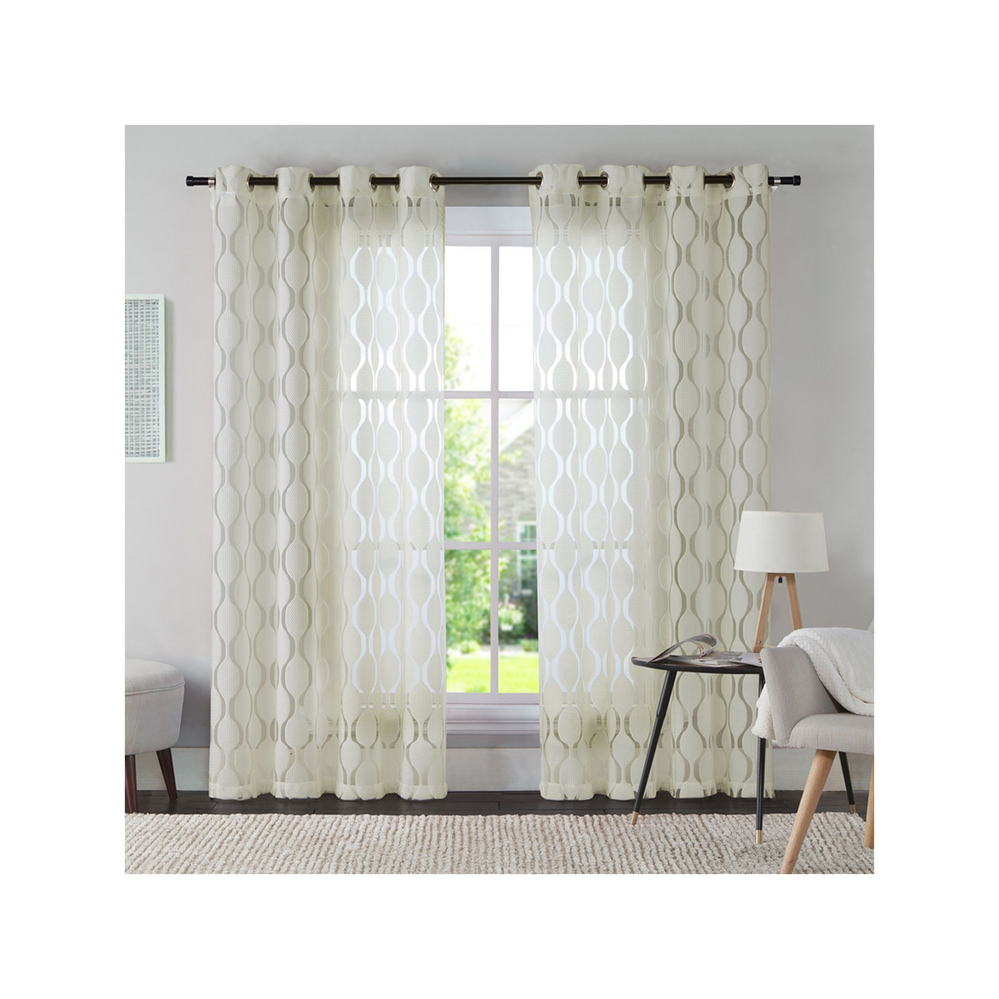 Bed bath and beyond window shades  vcny panel aria window curtain white curtainsideasforbedroom