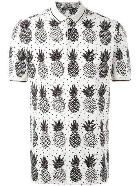e76f7fa980 DOLCE   GABBANA Pineapple Print Polo Shirt.  dolcegabbana  cloth  shirt
