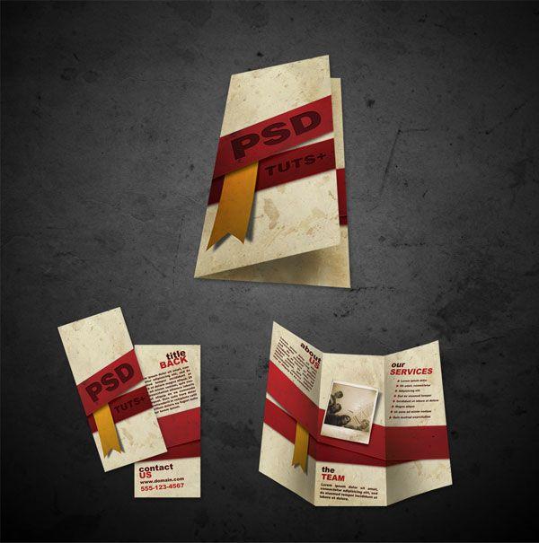 Plantillas folleto gratuito .psd archivos delantera y trasera por maysunny