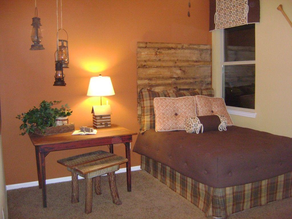 Rustic bedroom   Rustic bedroom, Bedroom wall colors ...