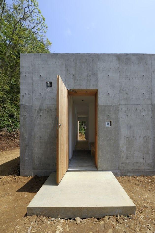 Wood concrete love this architektur das bau - Maison wooden concrete nestor sandbank ...