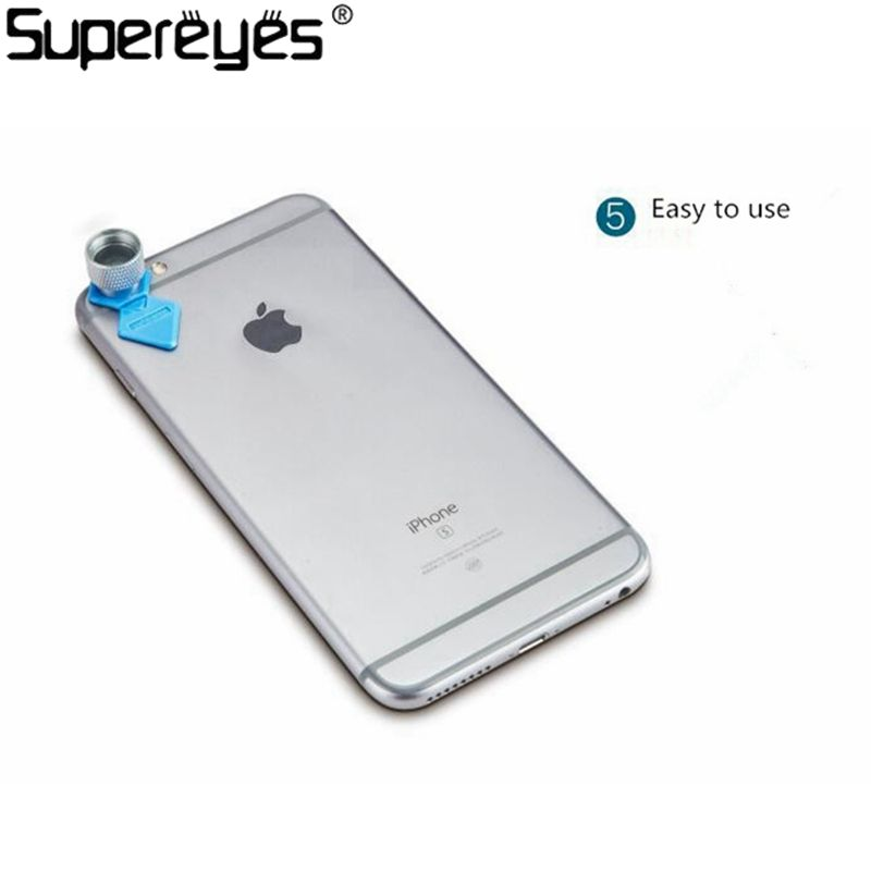 Supereyes Tablet Mini Size Focus Camera Lens 200X Microscope Magnifier for iPhone Android Phone Portable Magnifier Camera lens