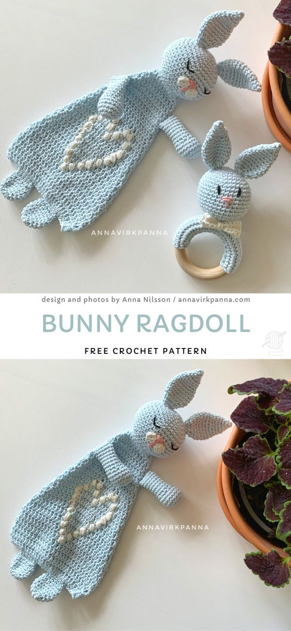 Bunny Ragdoll Free Crochet Pattern #childhoodfriends