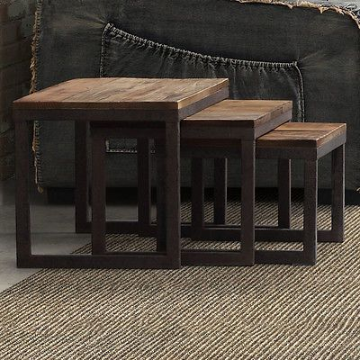 Zuo Era Civic Center 3 Piece Nesting End Table Set | Whatu0027s It Worth