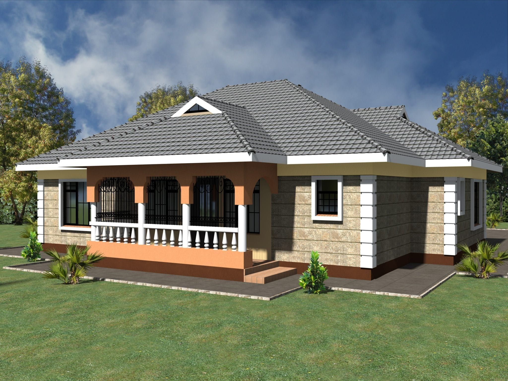 2 Bedroom House Designs In Kenya Unique House Plans Affordable House Plans Bedroom House Plans
