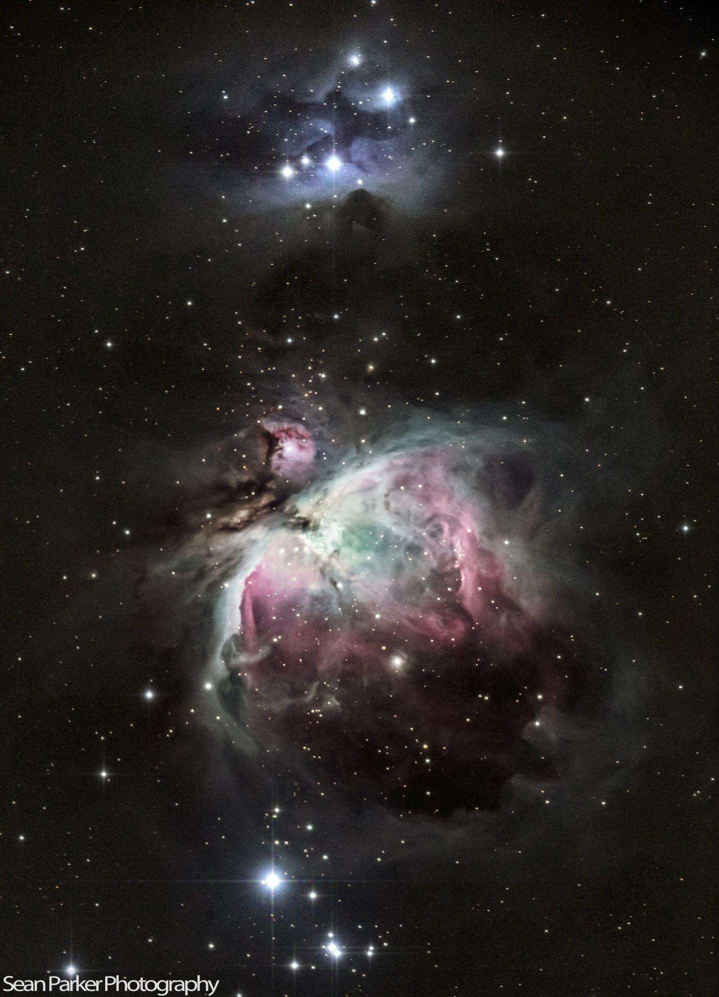 ˚The Great Orion and Running Man Nebula
