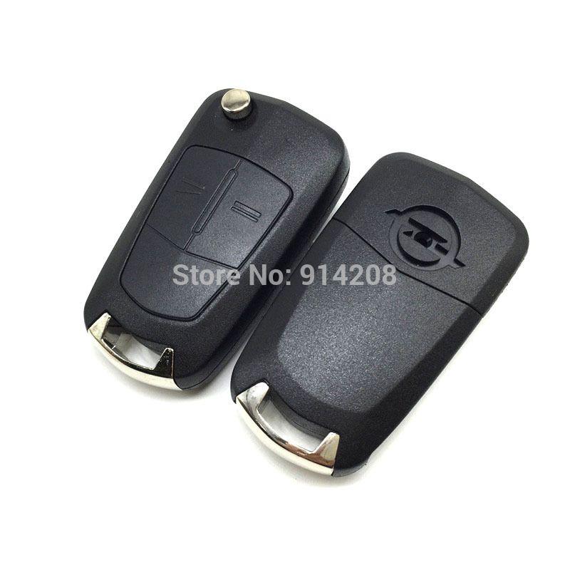 Temreipo 2 Buttons Flip Remote Folding Car Key Shell For Vauxhall Opel Corsa Astra Vectra Zafira Corsa Uncut Omega Key Cover Opel Vectra Control Key Opel
