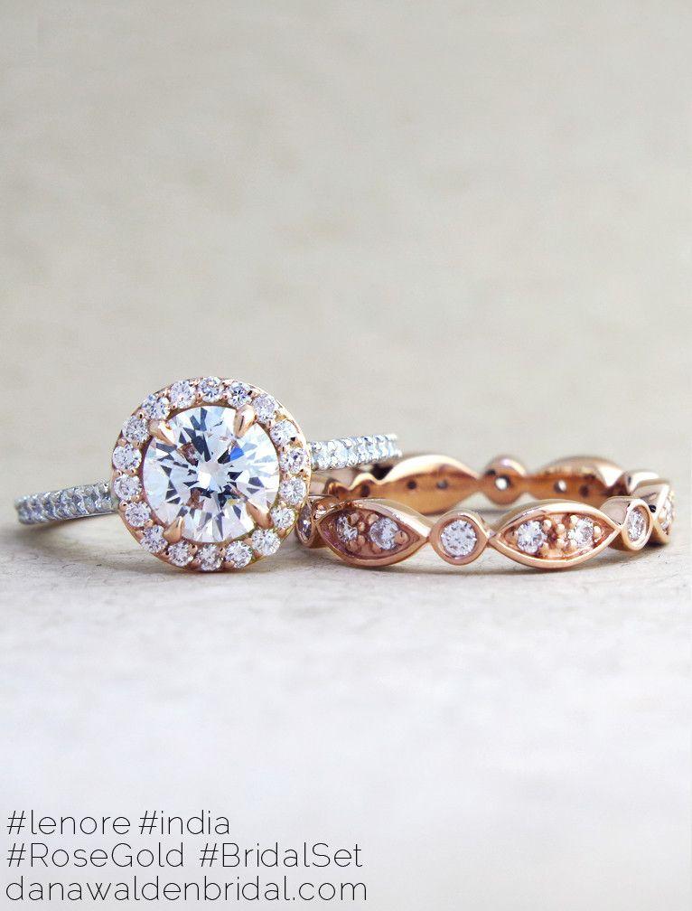 LENORE DIAMOND RING Rose Plat