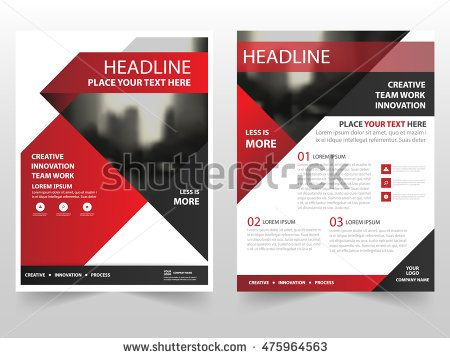 Red black triangle business Brochure Leaflet Flyer annual report - annual report template design