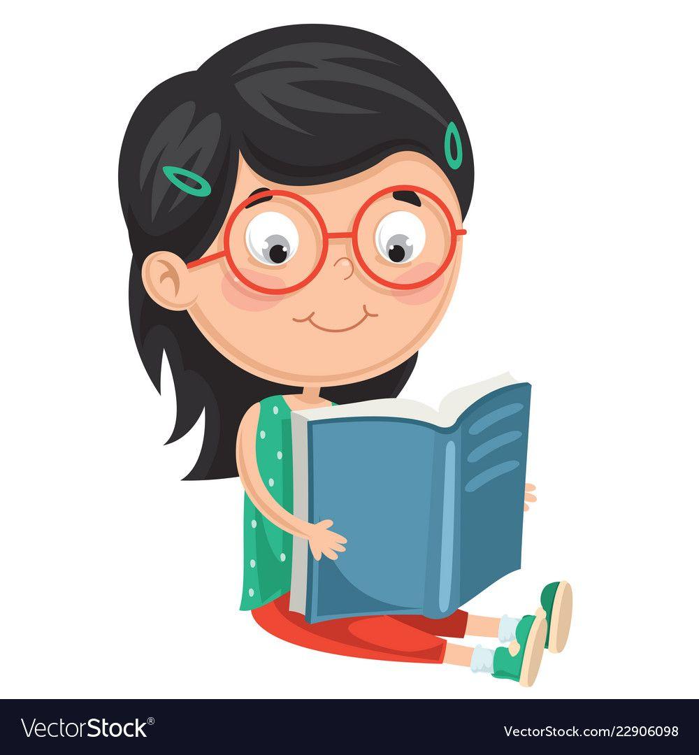of kid reading book vector image on vectorstock kids reading books sewing activities kids clipart of kid reading book vector image on