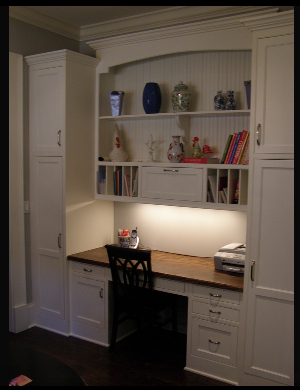 Share for Built in desk in kitchen ideas