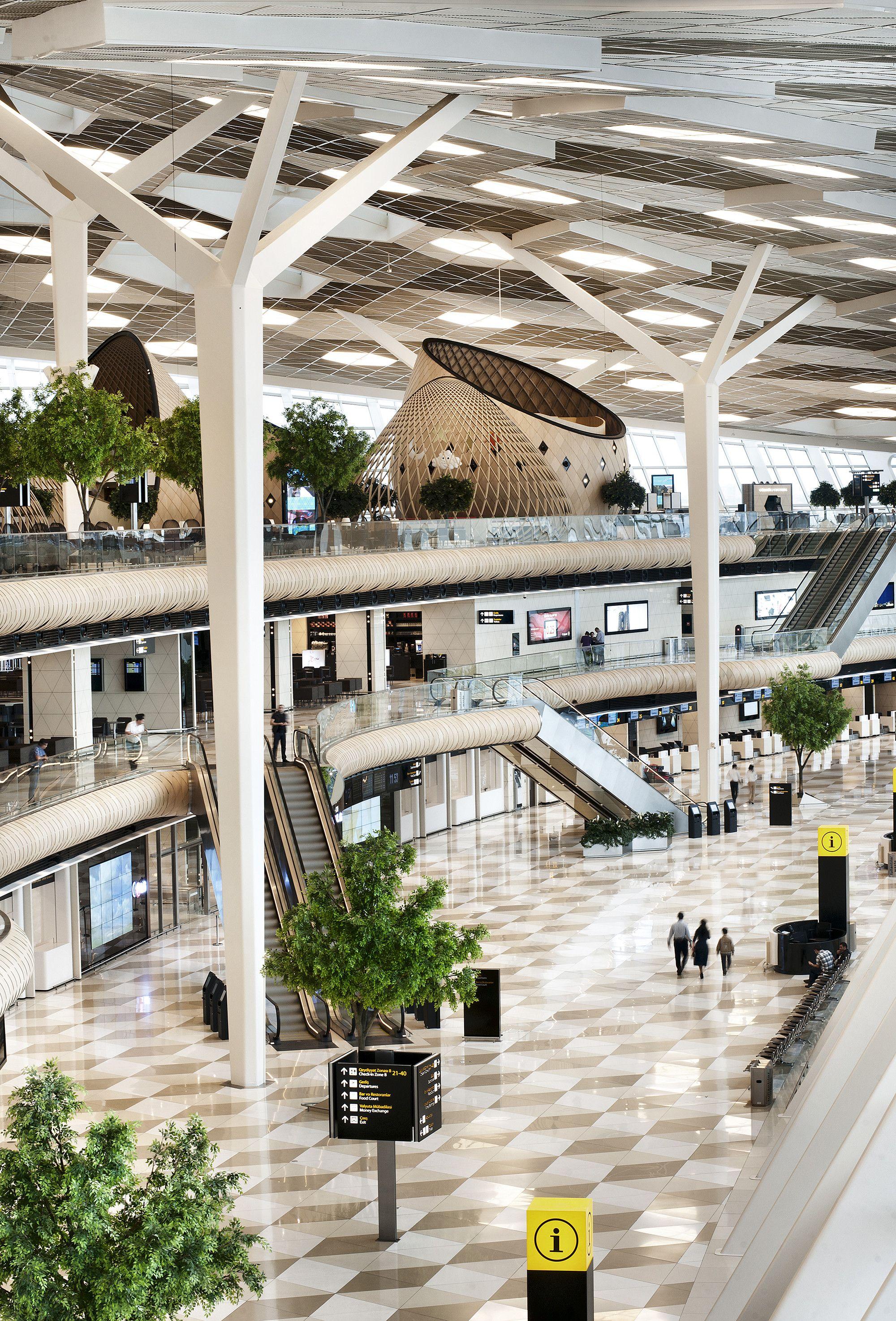 Gallery Of Heydar Aliyev International Airport Baku Autoban 16 Airport Design Shopping Mall Interior Mall Design