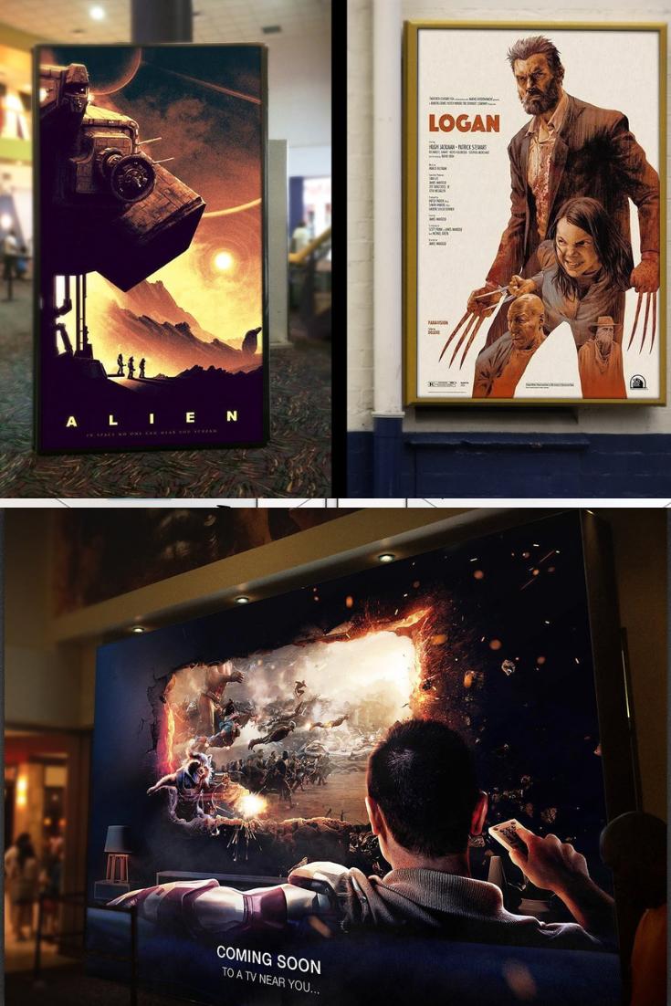 Large Format Movie Poster Mockup Poster Mockup Movie Posters Large Format
