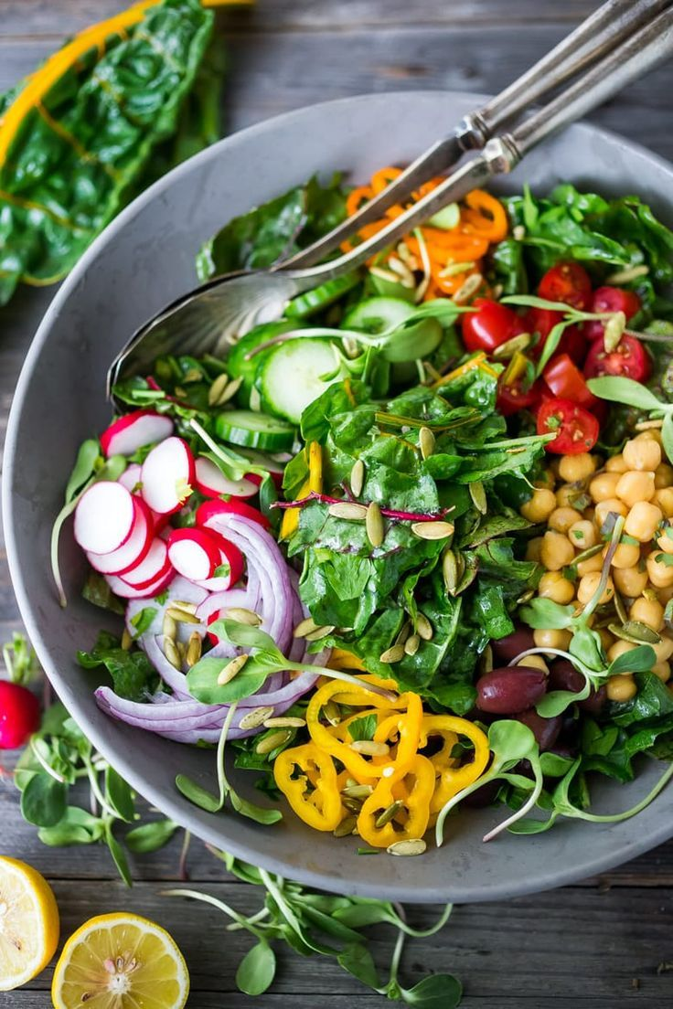 Mediterranean Chard Salad With Chickpeas
