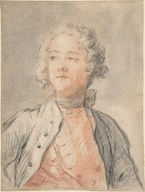 Portrait Of A Young Man Mid 18th Century Attributed To Jean Marc