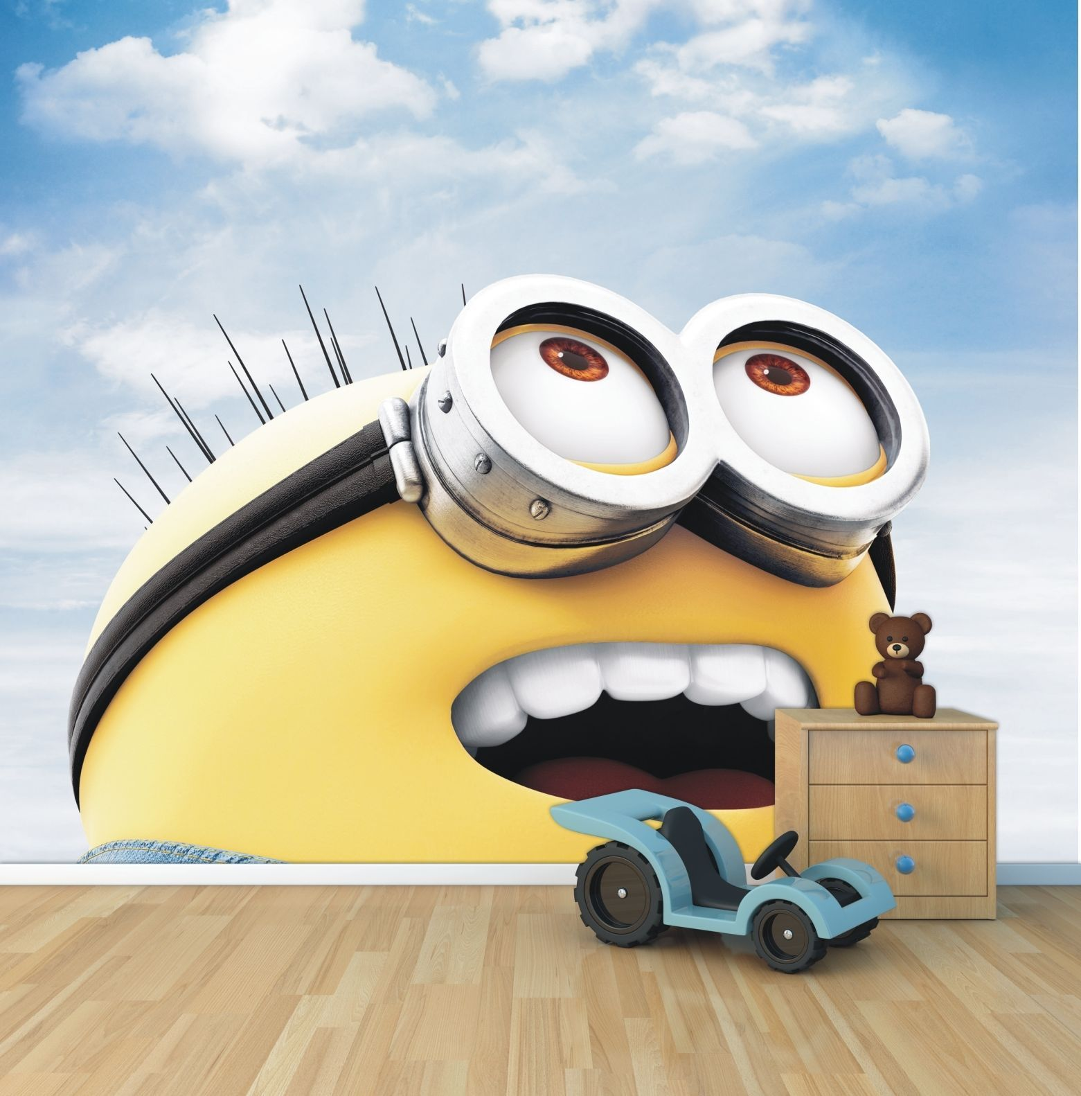 Minion Wallpaper For Bedroom Details About Minion Wallpaper Mural Style 1 Childrens Bedroom
