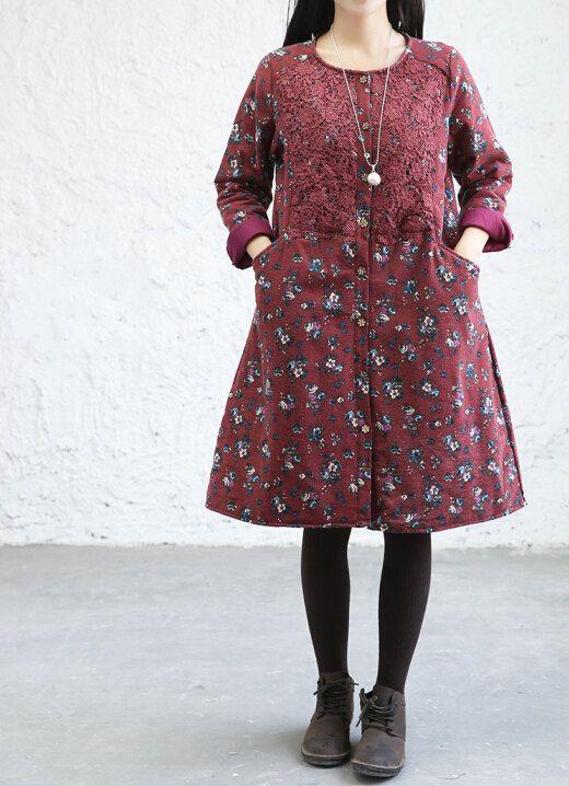 Women Fashion Floral cotton windbreaker by MaLieb on Etsy