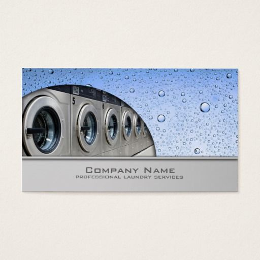 Professional Laundry Service Business Card Zazzle Com Laundry