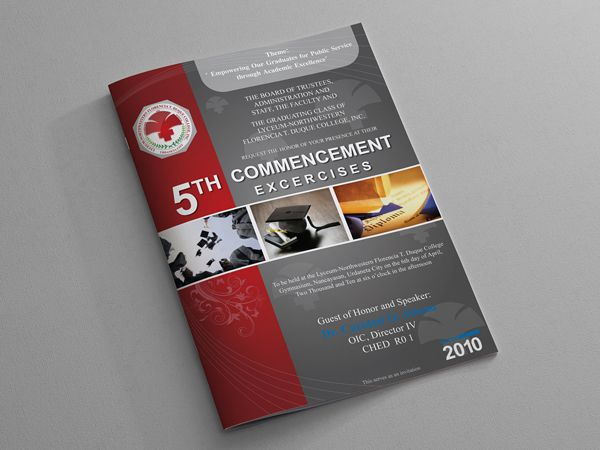 Graduation Program Covers By Gled Abenojar Via Behance