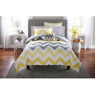Photo of Better Homes & Gardens King Medallion Yellow & Gray Comforter Set, 5 Piece – Walmart.com