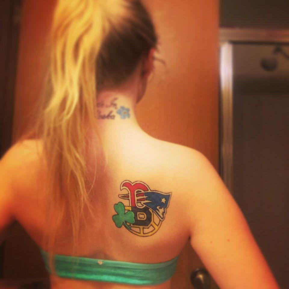 Boston Sports Tattoo New England Patriots Boston Red Sox Boston Bruins Boston Celtics Done By Ashton Allen Pa Sport Tattoos Boston Tattoo Red Sox Tattoo