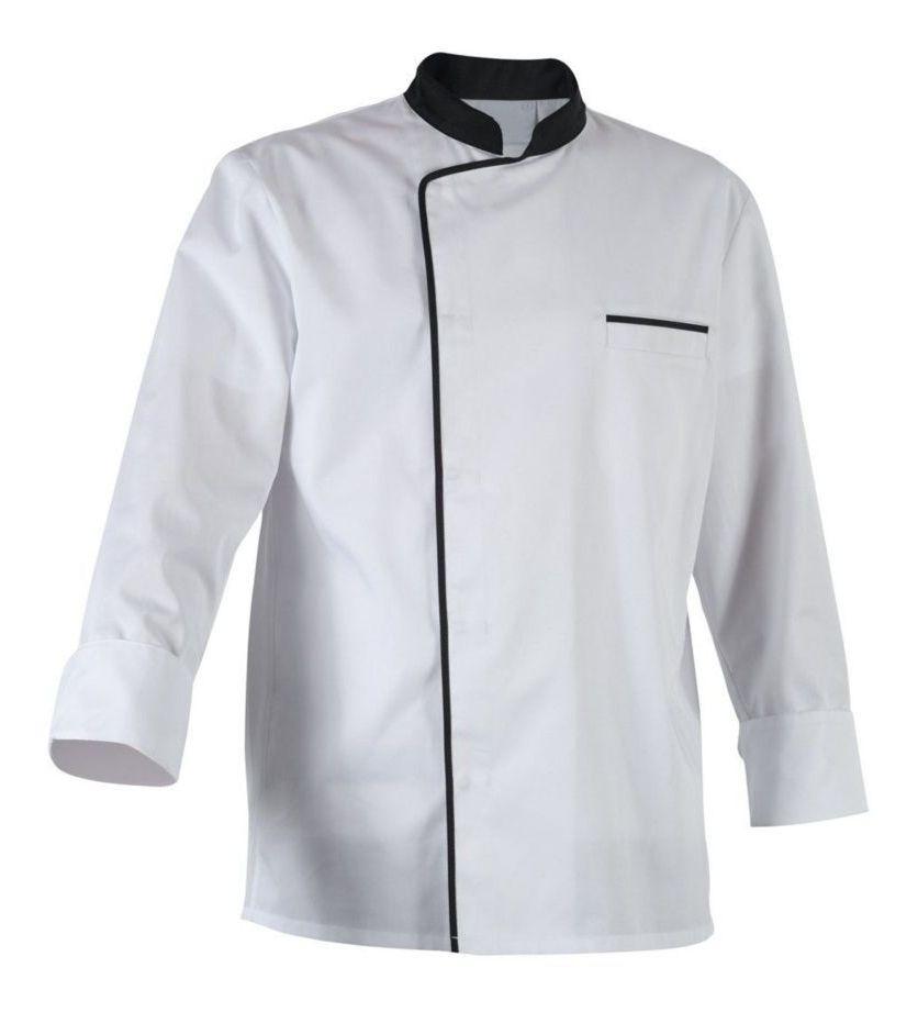 Vestes de Chef à Manches Longues Uniforme Vêtement de Cuisine