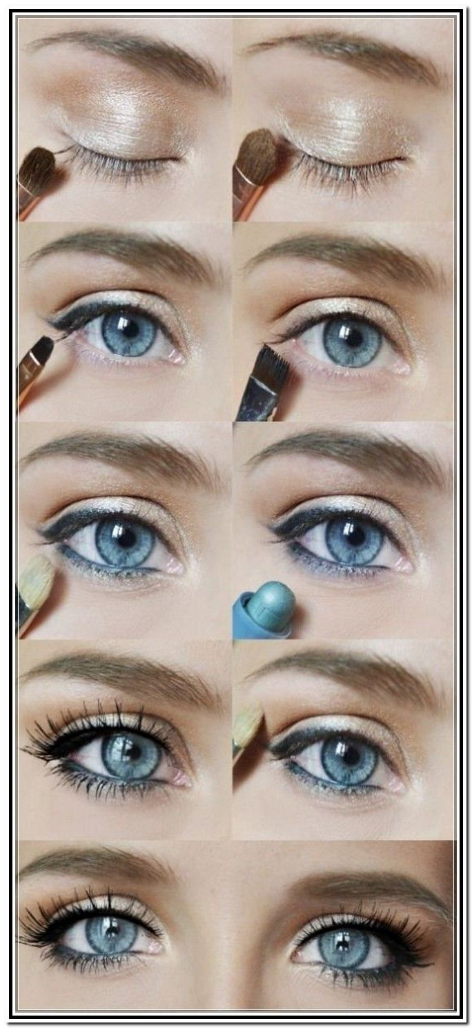 Icy blue pure winter eye makeup tutorials blue eyes and makeup eye makeup for blue eyes tutorial baditri Gallery