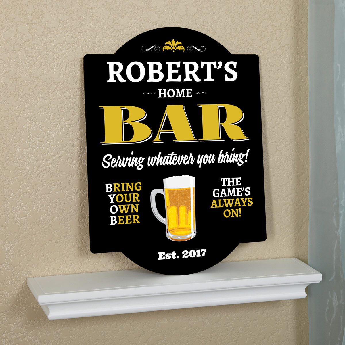 personalized signs and custom signs homewetbar man cave