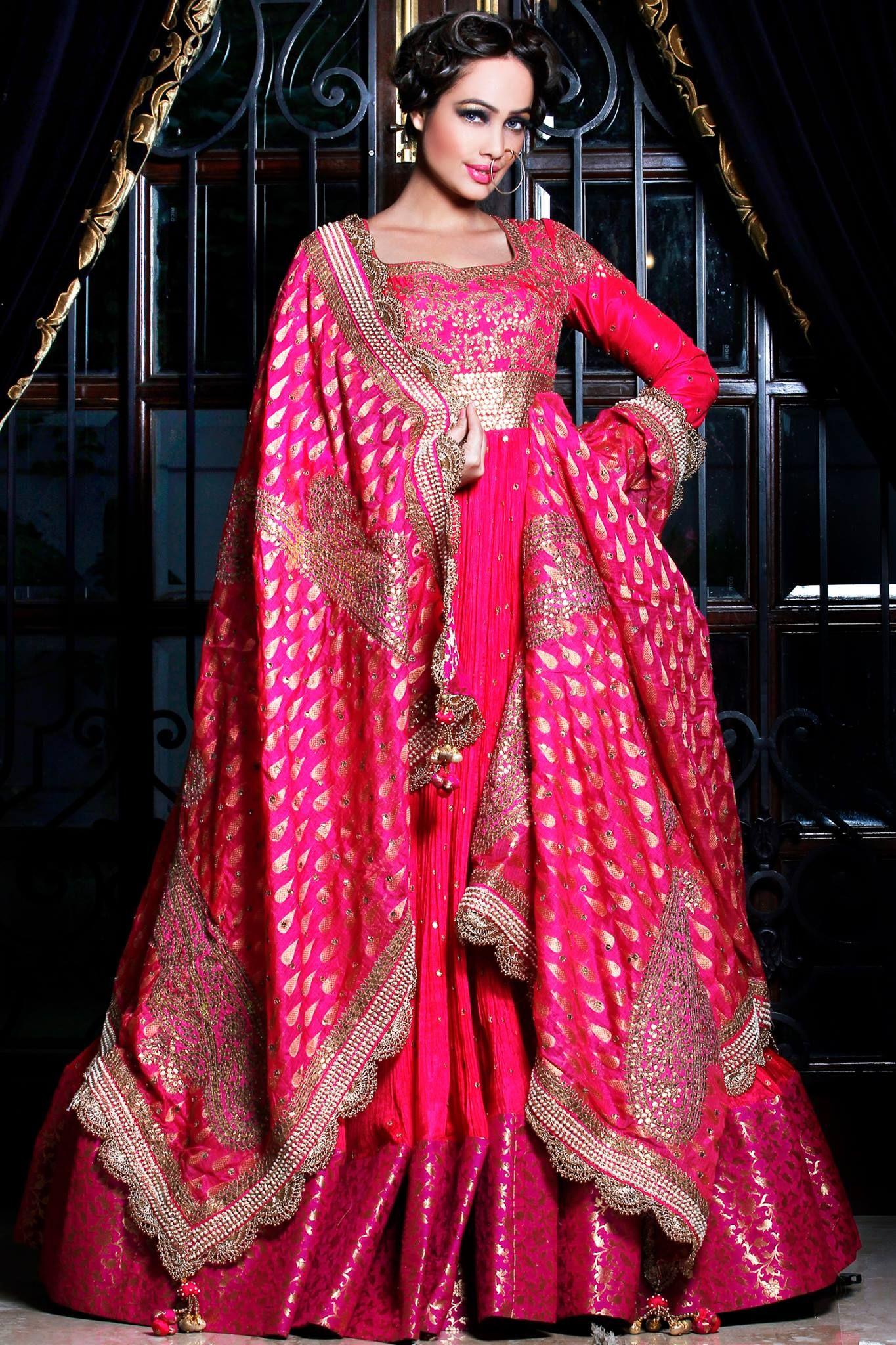 Pooja Rajpal Jaggi Pink Embroidered #Anarkali. | Kaarigari | Pinterest