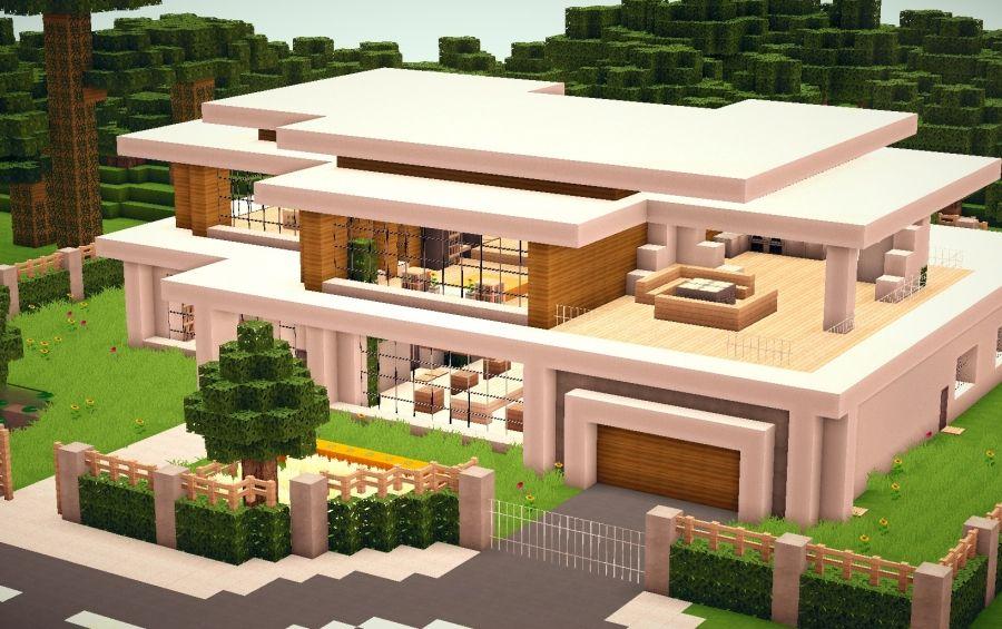 I Like The Fence Modern Minecraft Houses Minecraft Modern Minecraft Modern Home