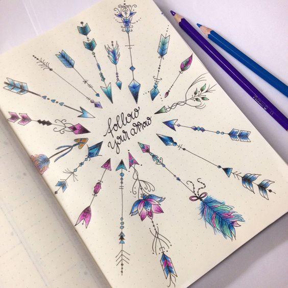 Bullet Journal Cover Ideas Months Decoration Books
