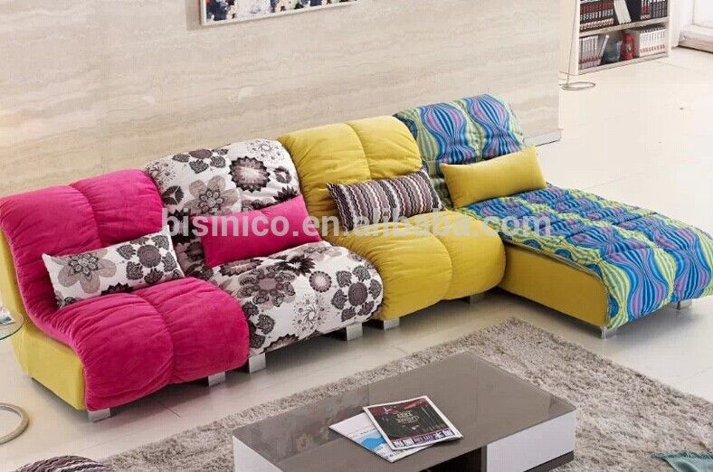 Contemporary Style Living Room Sofa Set Bright Coloured L Shaped Sectional Couch Lei Bright Colored Furniture Contemporary Style Living Room Modern Fabric Sofa