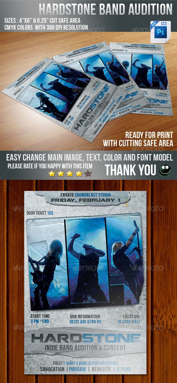 Hard Stone Flyer by savocation Hard STone flyer designed for