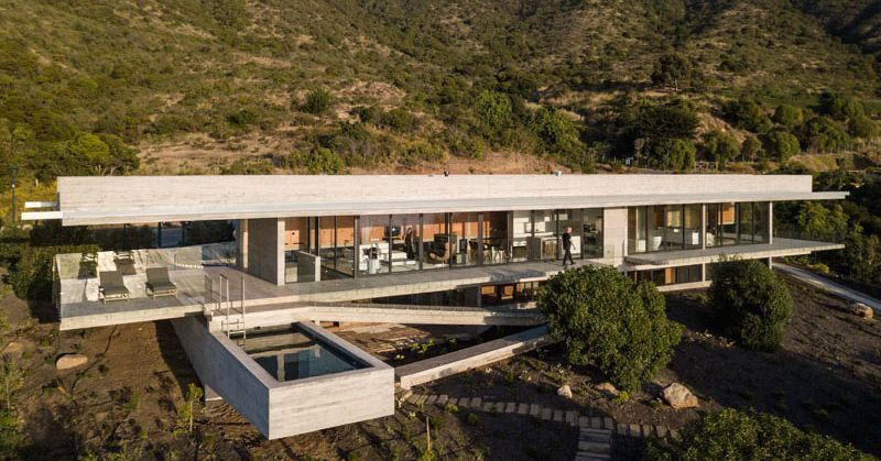Hillside Modern House Is All Concrete Glass And Views
